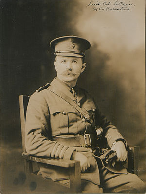 25th Battalion (Nova Scotia Rifles), CEF - Lt Col Le Cain, 25th Battalion (HS85-10-30083)