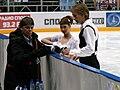 Lucie Myslivečková Matěj Novák Rostislav Sinitsyn 2010 Cup of Russia.JPG