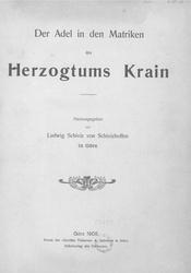 Deutsch: Der Adel in den Matriken des Herzogtums Krain.