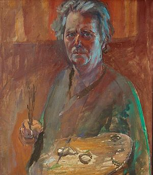 Ludwik Konarzewski-junior - The last self-portrait of artist