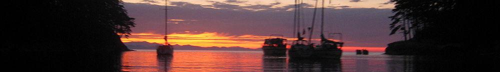 Lumpytrout Wikivoyage Page Banner Washington State San Juan Islands Boat sunset.JPG