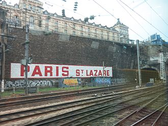 Lycée Chaptal - Lycée Chaptal above the railways tracks of the Gare Saint-Lazare
