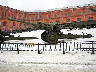 107 mm divisional gun M1940 (M-60) - M-60 at the Artillery Museum, Saint Petersburg