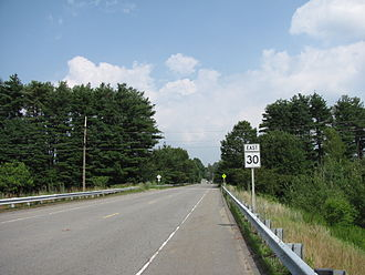 Massachusetts Route 30 - Image: MA Route 30 eastbound, Southborough MA