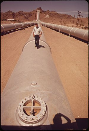 Metropolitan Water District of Southern California - Drinking water pumping station near Parker Dam, 1972