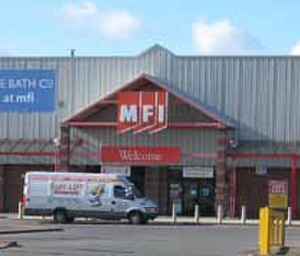 MFI Group - An older MFI store in Durham with another version of the branding