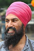 MPP Jagmeet Singh at his annual community BBQ in 2014 (cropped 2).jpg