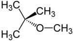 Strukturformel von Methyl-tert-butylether
