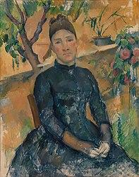 Paul Cézanne: Madame Cézanne (Hortense Fiquet, 1850–1922) in the Conservatory