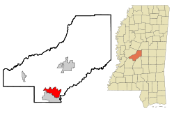 Location of Madison, Mississippi