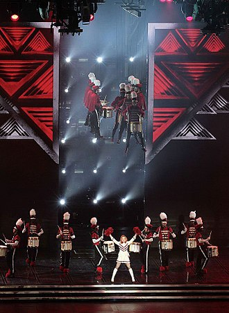 "Give Me All Your Luvin' - The performance of ""Give Me All Your Luvin'"" during The MDNA Tour, featuring Madonna dressed up in a majorette's costume and a drumline suspended in mid-air."