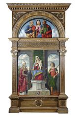 Madonna and Child enthroned with Saints Dionysius and Victor