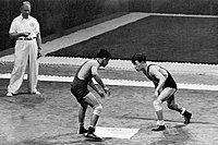 Mahmoud Mollaghasemi vs Yushu Kitano 1952.jpg