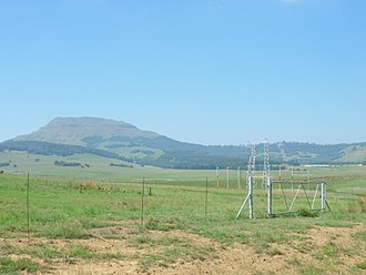 First Boer War - Majuba Hill as seen from Laing's Nek where two decisive battles were fought between the British and Boer forces in the First Boer War
