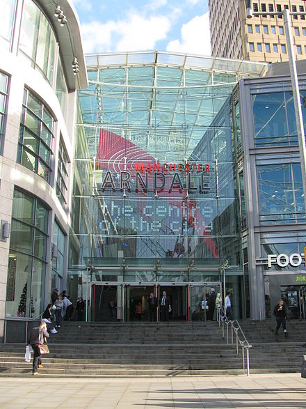 The Arndale from Exchange Square Manchester Arndale from Corporation Street in Exchange Square.jpg