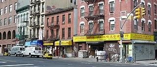 Chrystie Street street in Manhattan