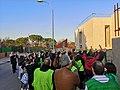 Manifestantes en Villablanca, sin espacio en los centros públicos.jpg