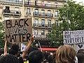 Manifestation du comité Adama place de la République - pancarte Black Lives Matter.jpg