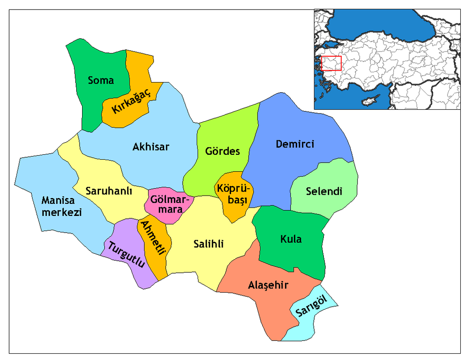 Manisa districts