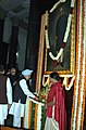 Manmohan Singh paying floral tributes at the portrait of the former President, Late Dr. Rajendra Prasad on the occasion of his 125th birth anniversary, at Parliament House, in New Delhi on December 03, 2009.jpg