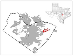Location of Manor, Texas