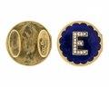 Manschettknappar av guld med emalj och rosenstenar, 1872 - Hallwylska museet - 110556.tif