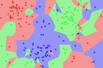 K-nearest neighbors algorithm - Image: Map 1NN