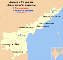 Andhra pradesh wikipedia map of airports and airstrips of andhra pradesh malvernweather Choice Image