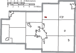 Location of Cairo in Allen County