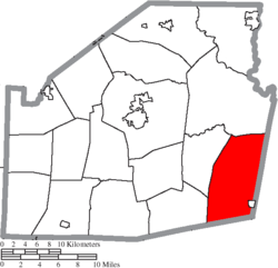 Location of Brushcreek Township in Highland County