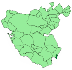 Location within Cádiz