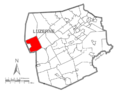 Map of Luzerne County, Pennsylvania Highlighting Huntington Township.PNG