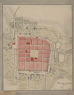 Map of Marienberg ca 1730