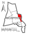Map of Montour County, Pennsylvania Highlighting West Hemlock Township.PNG