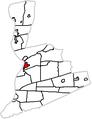 Map of Northumberland County Pennsylvania Highlighting Sunbury.PNG