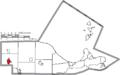 Map of Ottawa County Ohio Highlighting Genoa Village.png