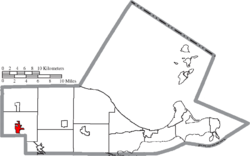 Location of Genoa in Ottawa County