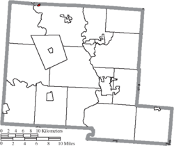 Location of Orient in Pickaway County
