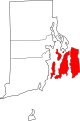 Map of Rhode Island highlighting Newport County.svg