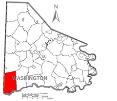 Map of West Finley Township, Washington County, Pennsylvania Highlighted.png