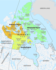 Map of the Nunavut regions