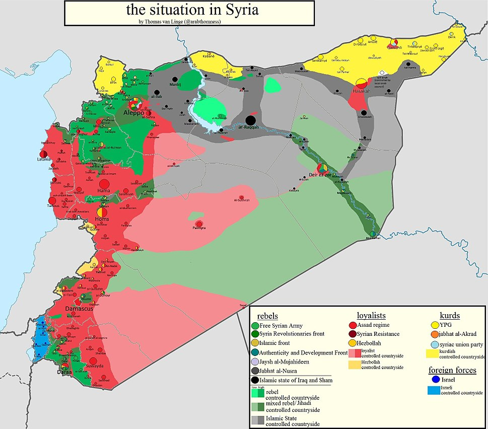 Map of the Syrian Civil War, January 2014