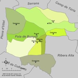 Hoya de Buñol - Municipalities of Hoya de Buñol
