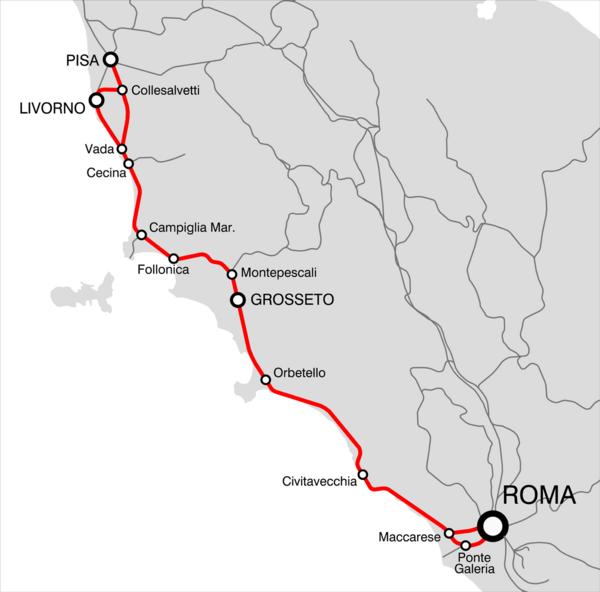 Bahnstrecke Pisa–Rom - Wikiwand