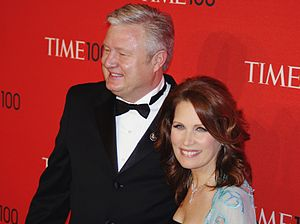 Michele Bachmann - Husband Marcus Bachmann and Michele at the 2011 Time 100 gala, where Michele was an honoree