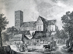 Brokmerland - The church of Marienhafe during its dismantlement in 1829