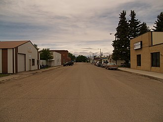 Marion, North Dakota - Business District of Marion