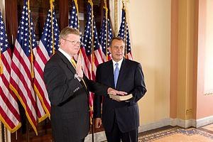 Mark Amodei - Amodei being sworn-in by Speaker of the House John Boehner.