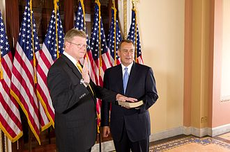 Mark Amodei - Amodei being sworn-in by Speaker of the House John Boehner.