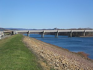 Carl E. Stotz Memorial Little League Bridge - Carl E. Stotz Memorial Little League Bridge over the West Branch Susquehanna River, from the west